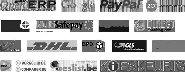 webshop koppeling: openerp, sisow, ogone, bpost, dhl, gls, beslist, vergelijk, kieskeurig