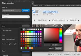Design editor webwinkel voorbeeld