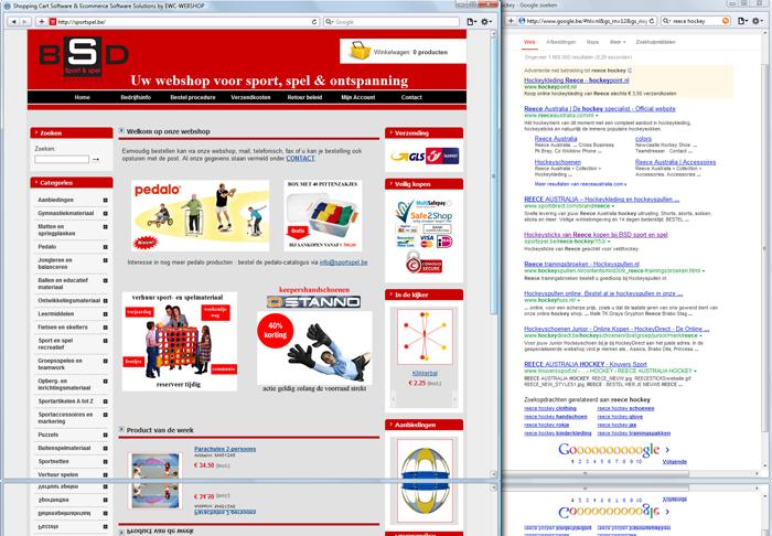 Sportspel referentie webwinkel