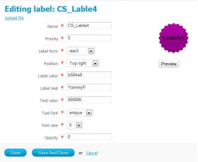 product label editor