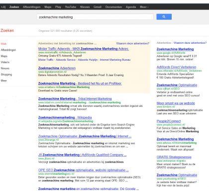 Google adwords campagne beheer