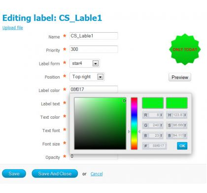 productlabel editor